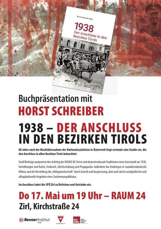 Einladung zur Buchpräsentation in Zirl, Kirchstraße 24, Raum 24, 17.5.2018